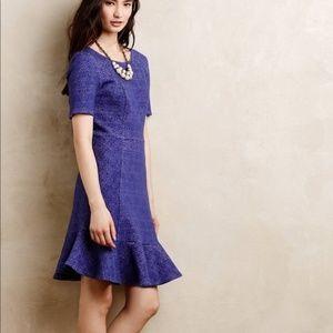 ANTHROPOLOGIE Marcelline Flounce Sheath Dress Y14